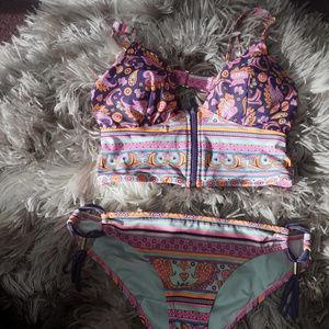 Victoria's Secret Swim   Pattern Cheeky Bikini   S